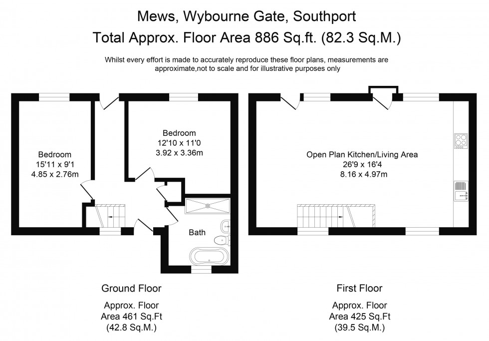 Floorplan for Wybourne Gate, Southport