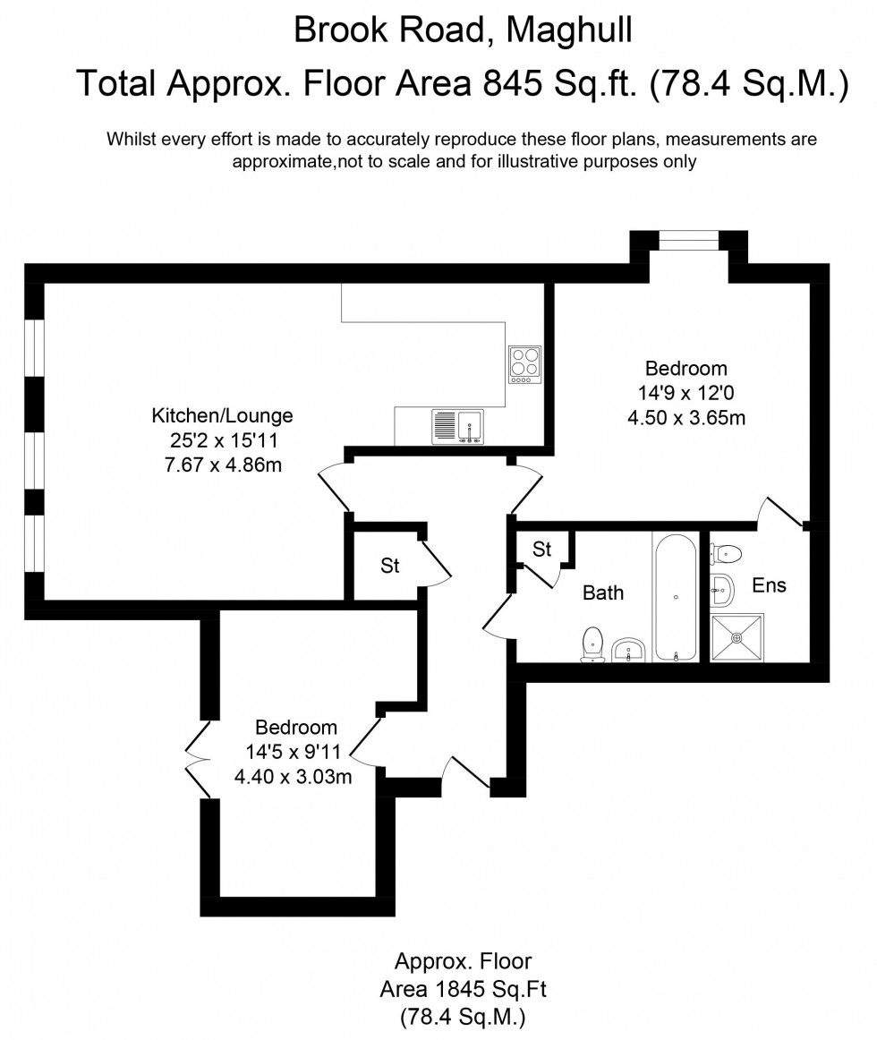 Floorplan for Brook Road, Maghull